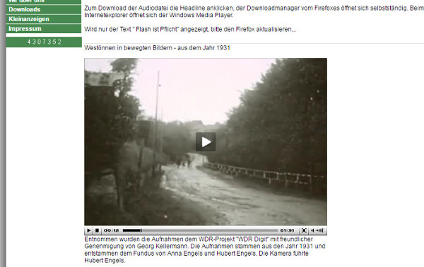 Westönnen Online präsentiert einen Film aus dem Jahr 1931
