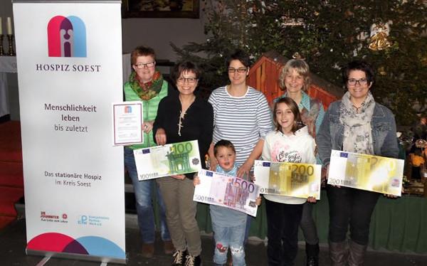 Gruppe Miteinander spendet 1000 Euro an Soester Hospiz