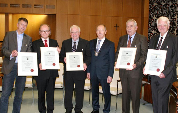 Willi Topp erhält Ehrennadel der Stadt Werl