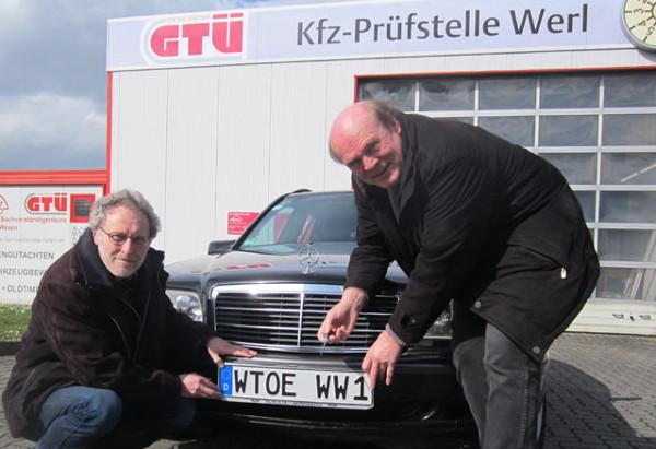 Ein Autokennzeichen WTOE - ach nee, April, April