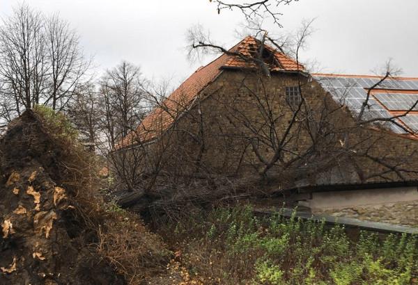 Sturmtief Mirja hinterlässt tiefe Spuren in Westönnen