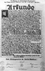 Grundstein - Urkunde