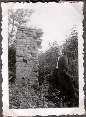 """Überreste der """"Arche"""", ein Foto aus dem Jahr 1948."""