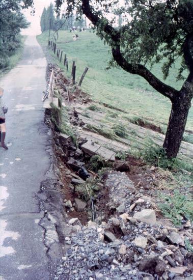 Der beschädigte Staudamm