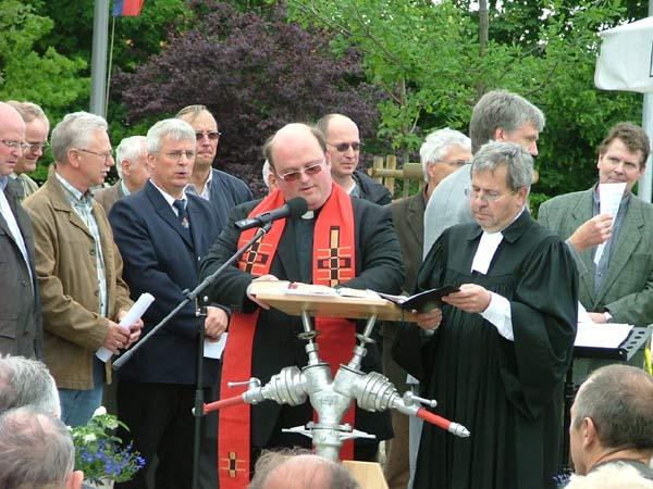 Propst Feldmann und Pfarrer Rausch