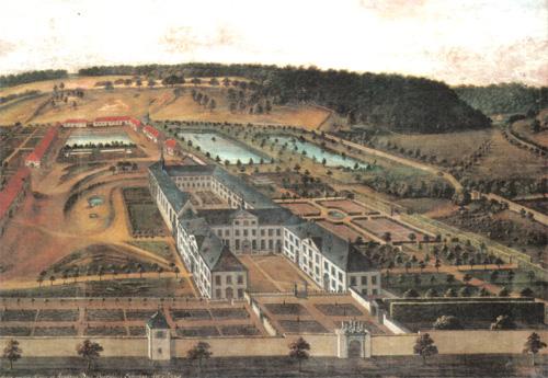 Die Klosteranlage um 1740