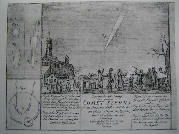 Darstellung des Kometen von 1744