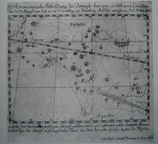 Darstellung des Kometen von 1769