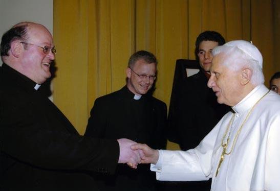 Eine Audienz beim Papst.