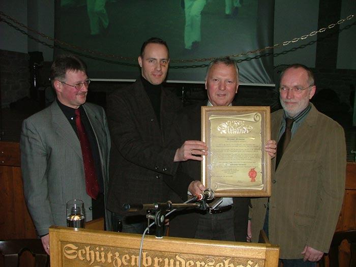 Friedel Grümme, Ehrenbrudermeister der Schützen