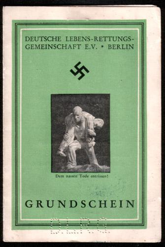Der Grundschein der DLRG von 1941
