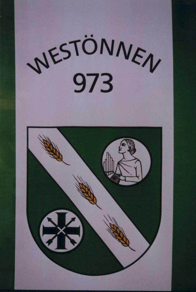 Die Westönner Schützenfahne
