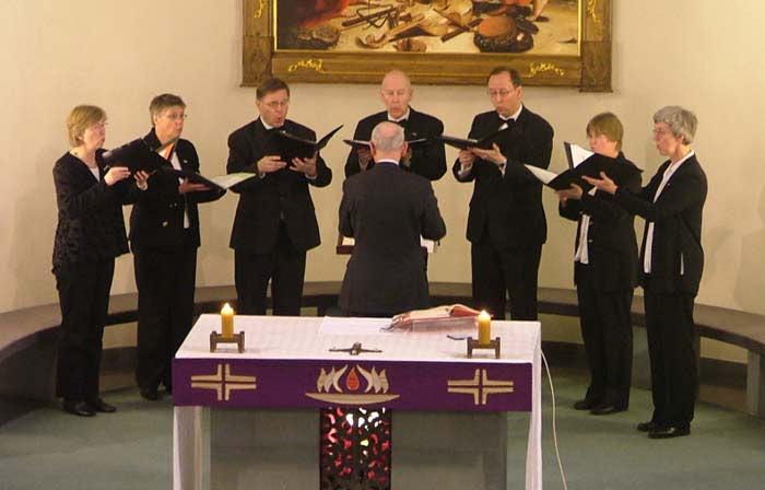 Ensemble Raphael singt in der Westönner Kirche