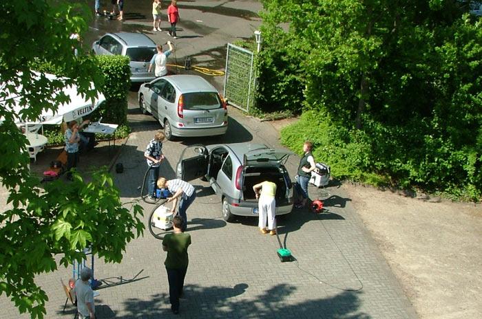 Autowaschen für das Ferienlager