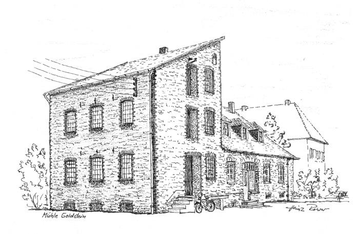 Die Zeichnung der Mühle