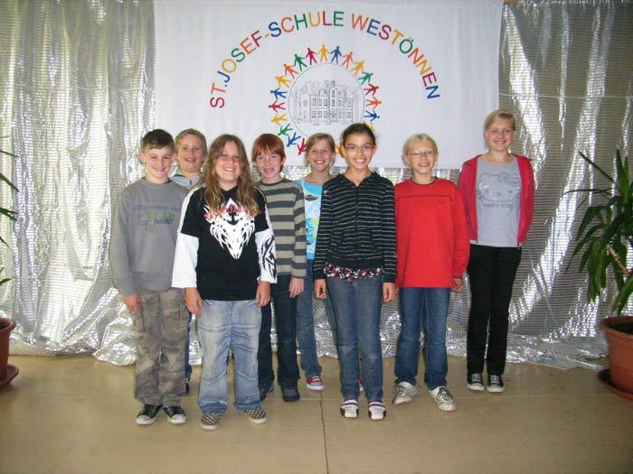 Siegergruppe Grundschulolympiade 4a