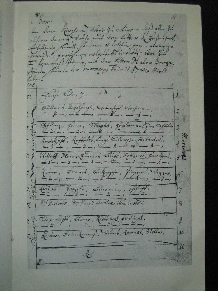 Ausschnitt aus dem Lagerbuch, die entsprechende Stelle für die Familie Hering
