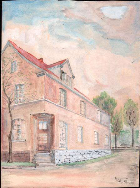 Farbiges Bild von 1949