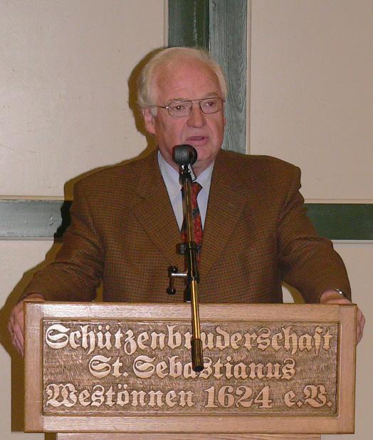 Willi Topp als stellvertr. Bürgermeister der Stadt Werl bei seinem letzten offiziellen Termin