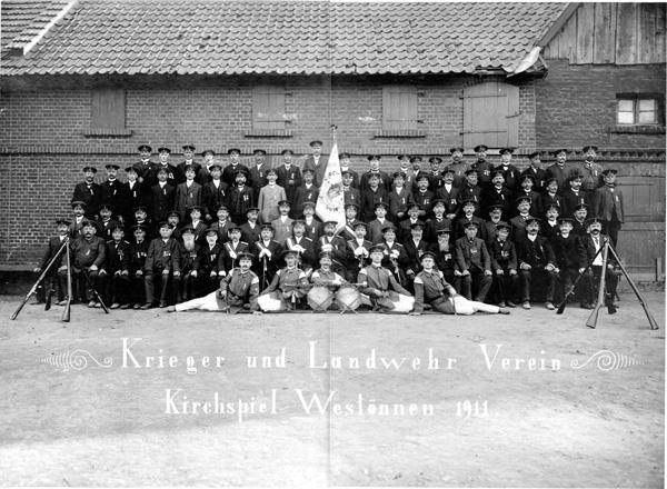Der Krieger- und Landwehr-Verein von 1911, der Aufnahmeort von diesem Foto ist nicht bekannt.