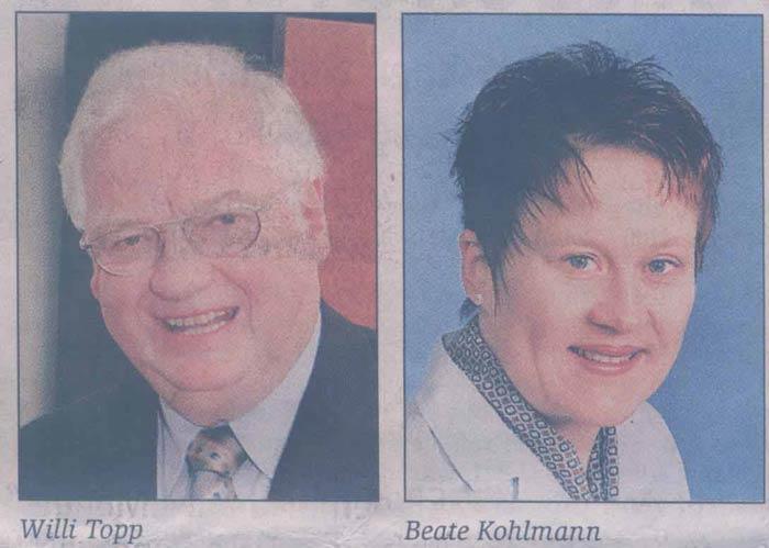 Wollten beide in den Rat: Willi Topp und Beate Kohlmann... Fotos: Anzeiger