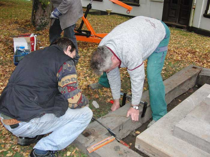 Das Grabdenkmal des Caspar Theodor von Papen wird renoviert