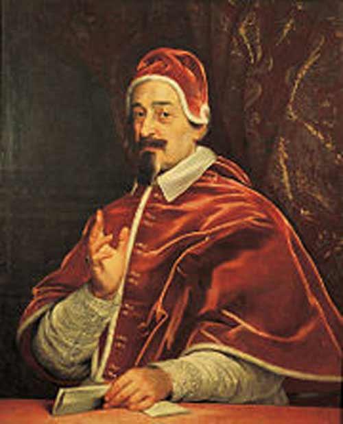 Bild 1: Papst Alexander VII,  *1599 – + 1667, Papst von 1655 – 1667, zu seiner Regierungszeit wurde der Petersdom erbaut. (Quelle: Wikipedia)