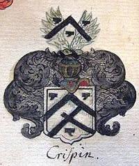 Wappen der Erbsälzerfamilie Crispen aus dem v. Mellin`schen Wappenbuch