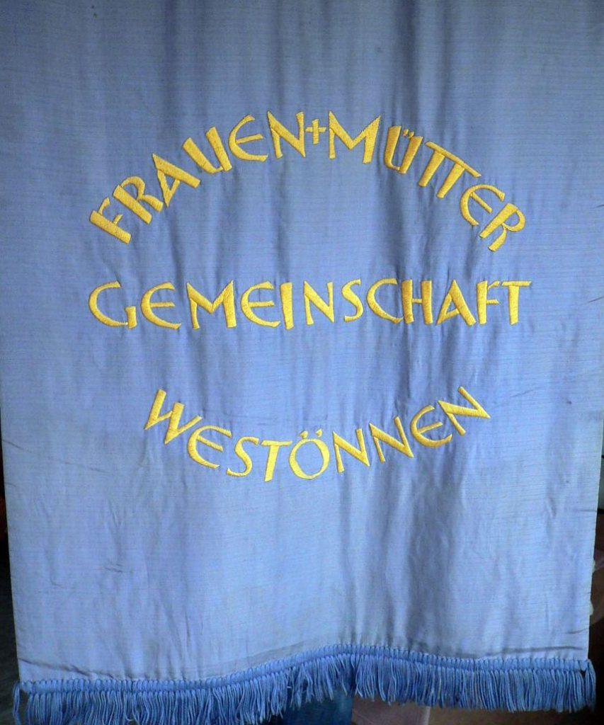Die Rückseite der alten Fahne