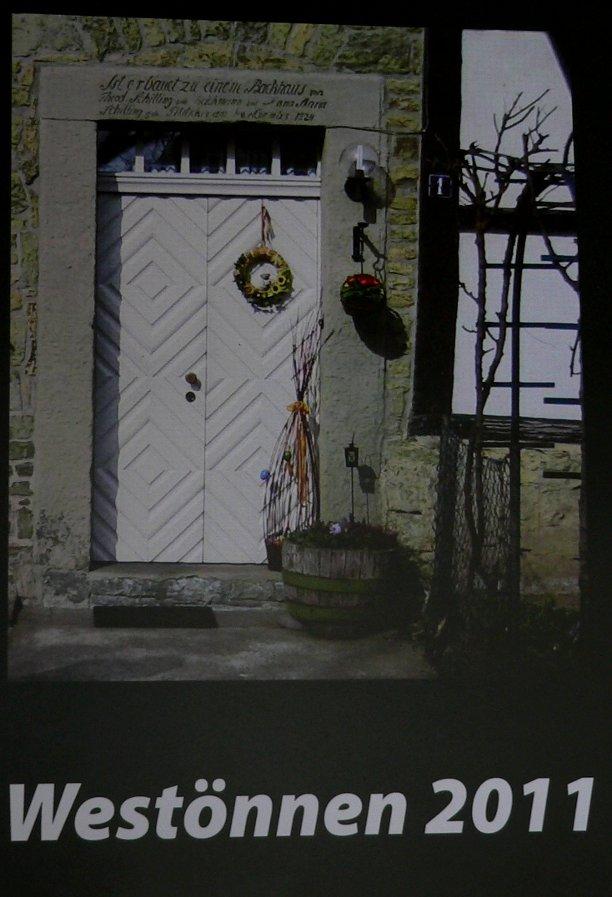 Der Kalender 2011, Thema Grünsandstein, mit aktuellen Terminen unter den Fotos.