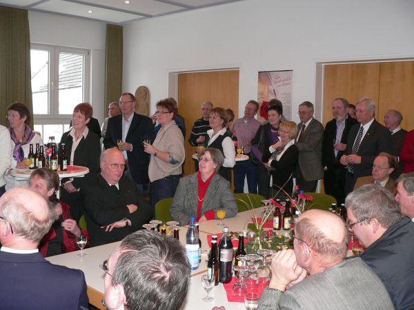 Zahlreiche Vereinsvertreter/innen waren der Einladung zum Neujahrsempfang gefolgt.