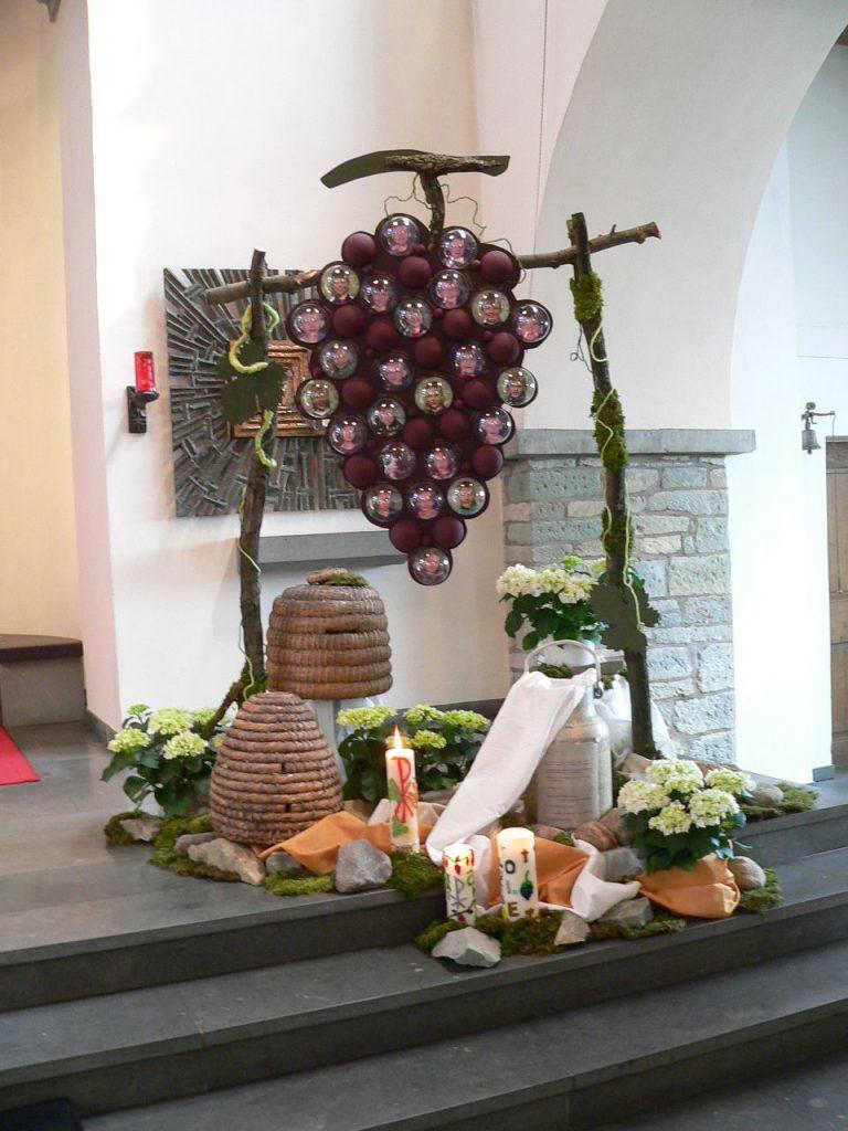 Das Altarbild der Kommunionfeier