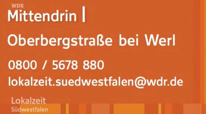 Fotos: Screenshot WDR - Kontaktnummer des WDR