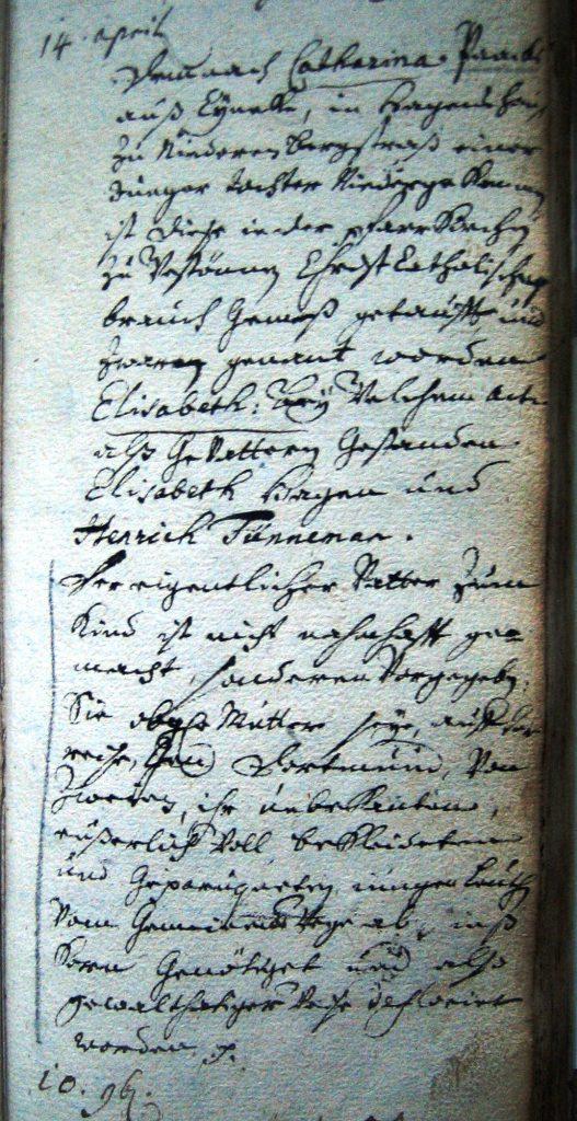 Originaltext vom  14.04.1712