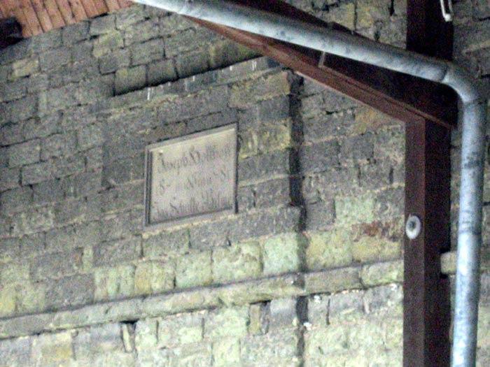 Inschrift Scheune  Hof Holthoff
