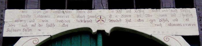 Inschrift von 1796