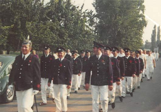 Die Feuerwehr marschierte auch mit