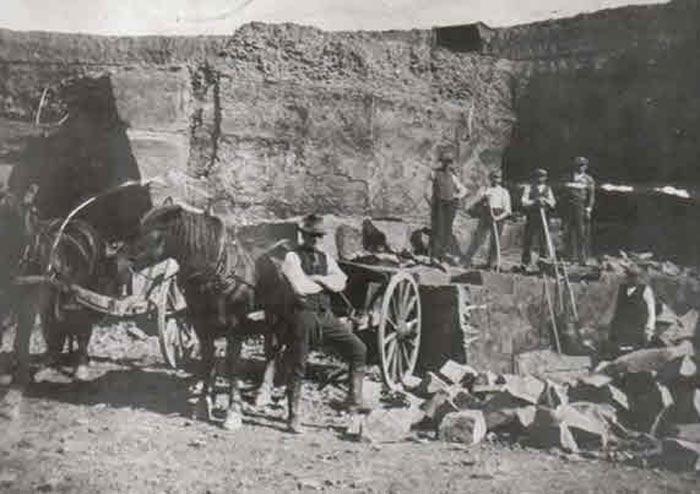 Arbeiter im Steinbruch