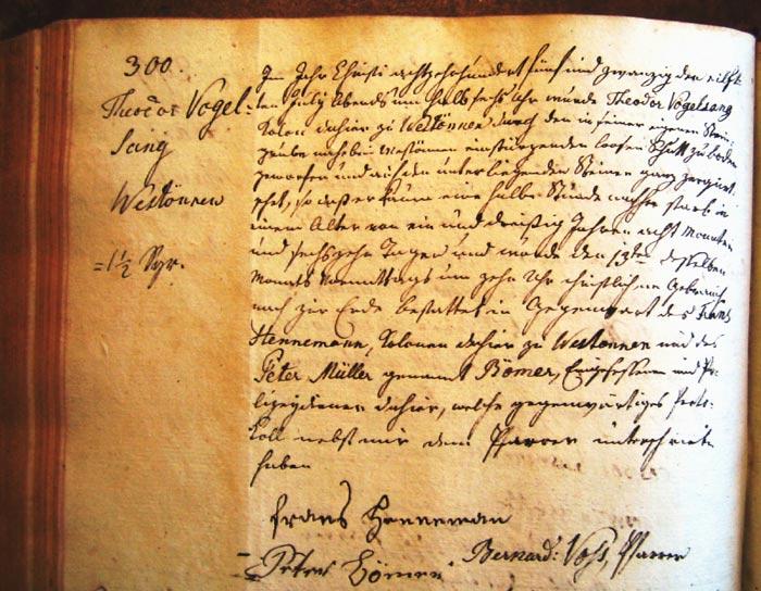 Kirchenbucheintrag vom 11.07.1825