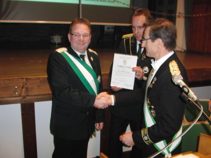 Matthias Plattfaut erhält den Hohen Bruderschaftsorden
