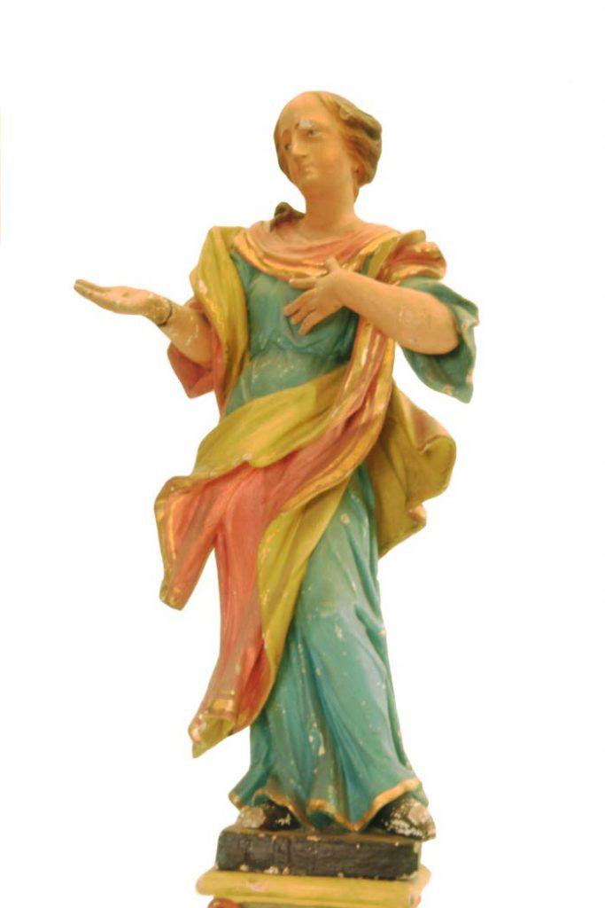 Agatha Statue vor der Restaurierung
