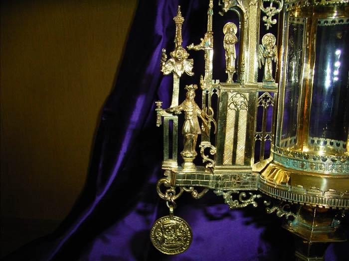 Detail der Monstranz mit Agatha-Figur