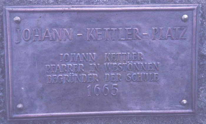 Gedenktafel von 1966
