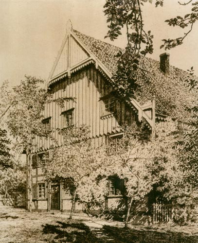 Hof Schleep-Büscher, Aquatinta-Radierung von Hans Sponnier