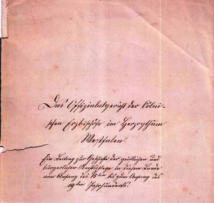 Titelblatt seiner Doktorarbeit, handschriftlich