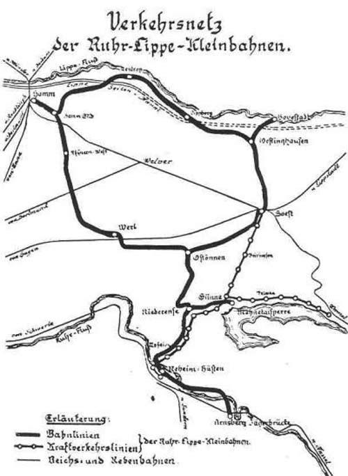 Verkehrsnetz der RL-Bahn 1937