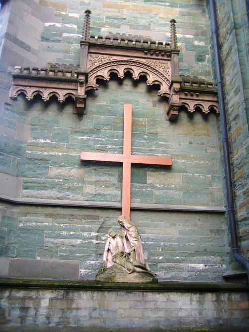 Baldachin an der Nordseite der Propstei-Kirche