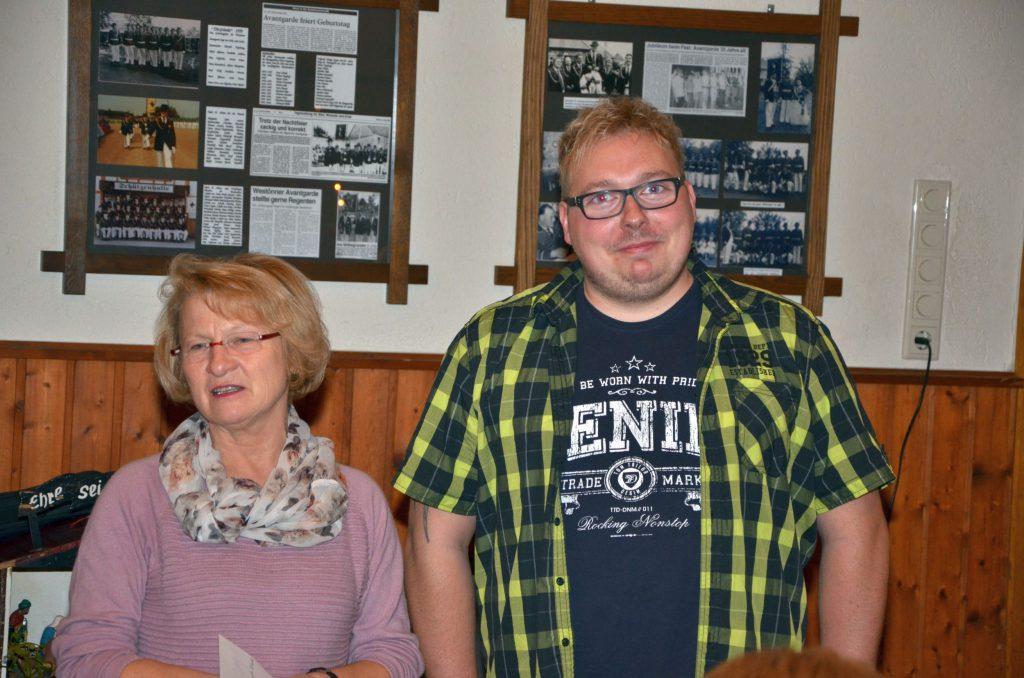 Die Leiterin des St. Cäcilia Kindergarten Maria Schwark und Ingo Schriek