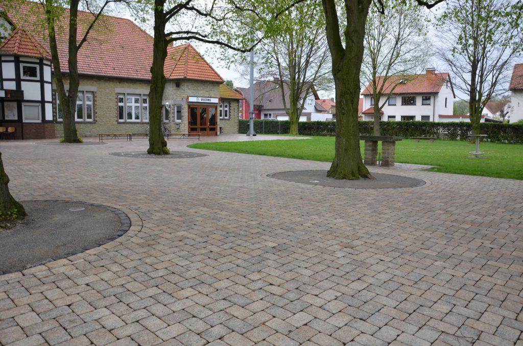 Der neu angelegte Schützenplatz