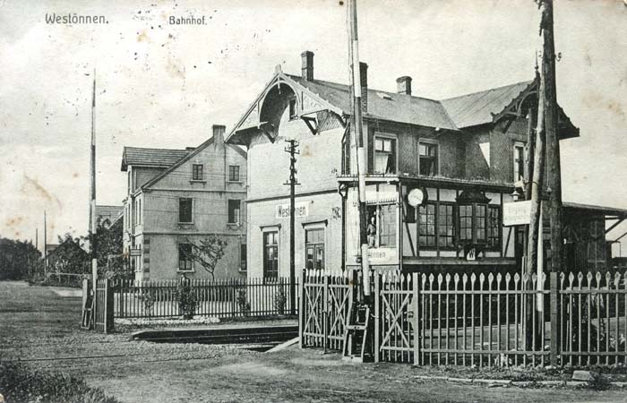 Karte von 1915 - Bildseite
